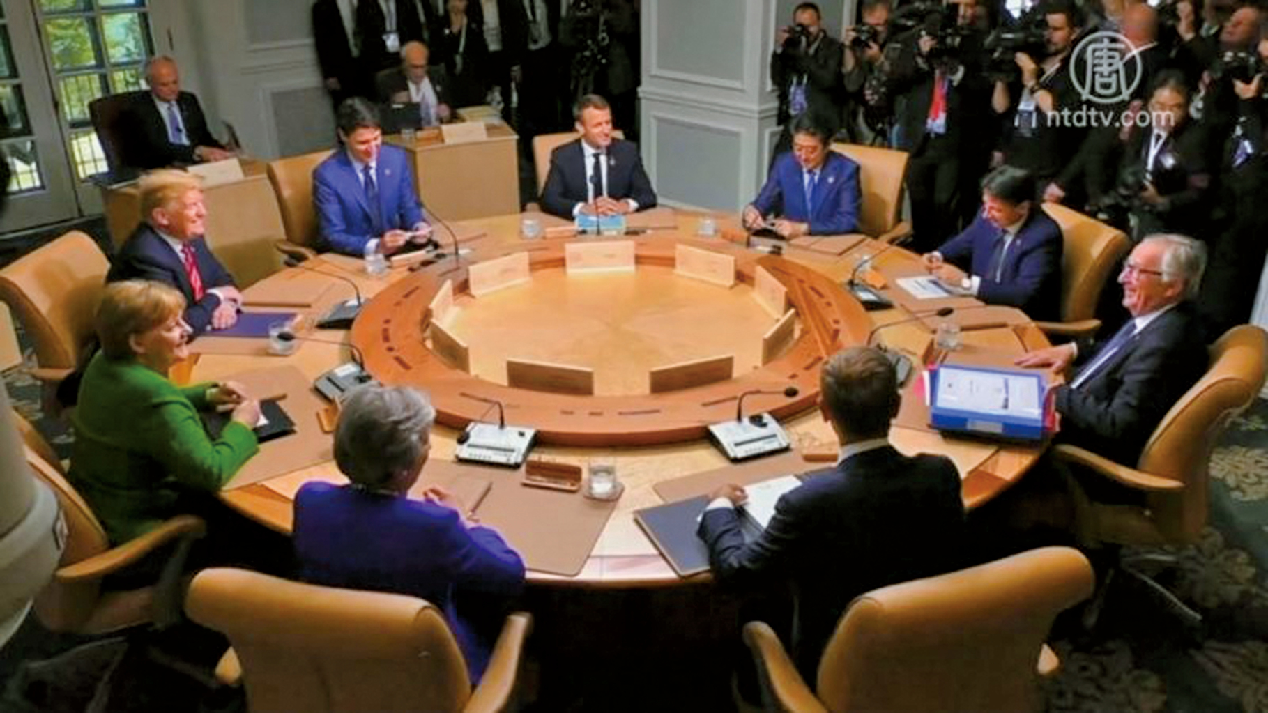 世界上7大工業國於法國舉行G7峰會,共商全球迫切問題。(AFP)