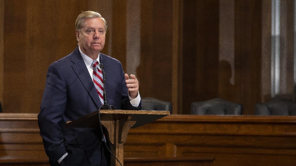 美國參議院司法委員會主席、南卡羅來納州共和黨參議員格雷厄姆(Lindsey Graham)。(Anna Moneymaker/Getty Images)