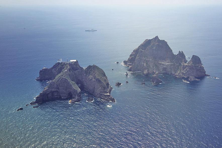 圖為, 8月25日,南韓展開為期兩天的獨島(日本稱竹島)防禦演練。(AFP)