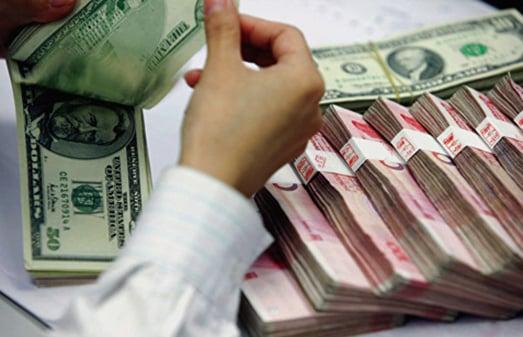 8月26日,人民幣離岸價創歷史新低。(Getty Images)