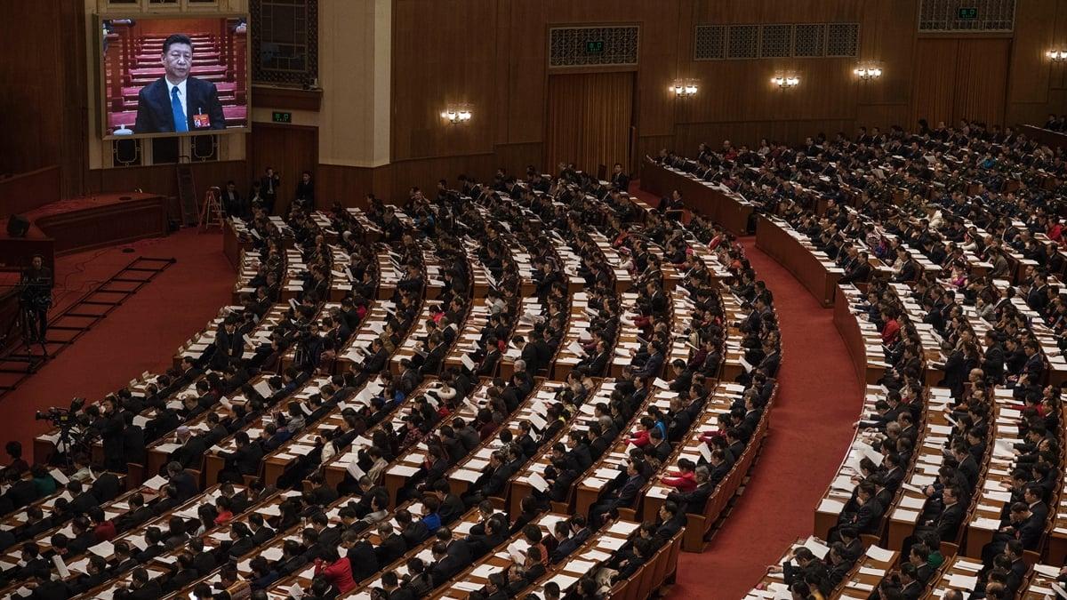 北京26日召開中央財經委員會會議,習近平以中央財經委員會主任的身分主持會議並發表講話。( Kevin Frayer/Getty Images)