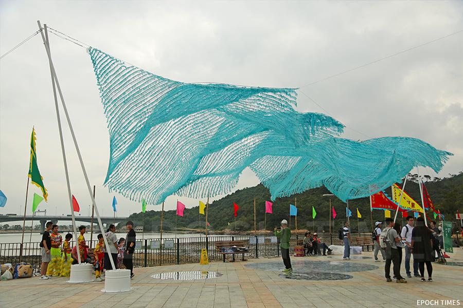 去年十一月初的「翱翔」藝動沙螺灣活動。