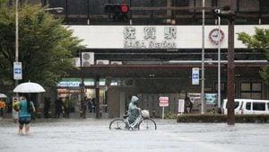 日本九州致災大雨 多條河川氾濫 當局發5級警報