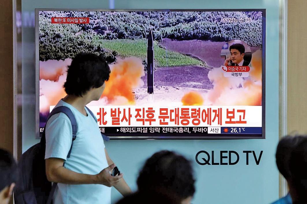 北韓於5月9日再次發射一枚不明彈體。(AFP)
