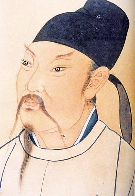 清殿藏本李白畫像 (Wikimedia Commons)
