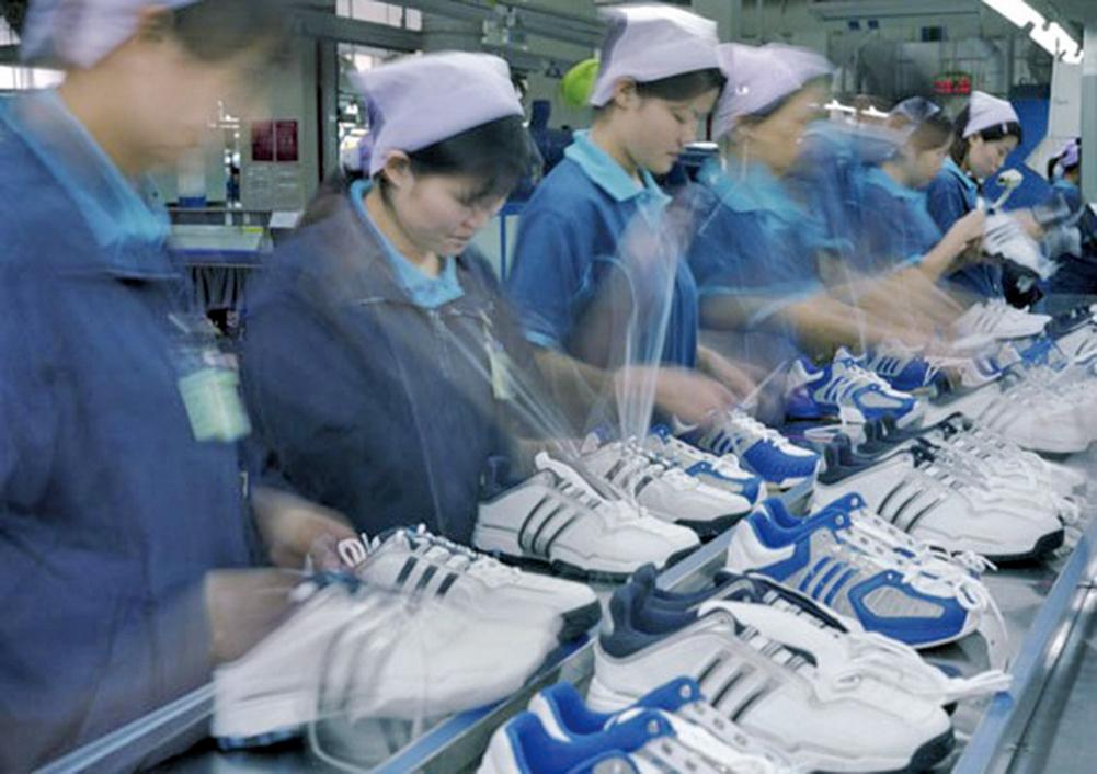 運動鞋工廠,示意圖(大紀元資料室)