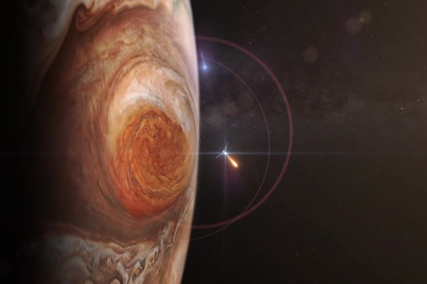 朱諾號探測器將在近距離觀測木星。(NASA視頻截圖)