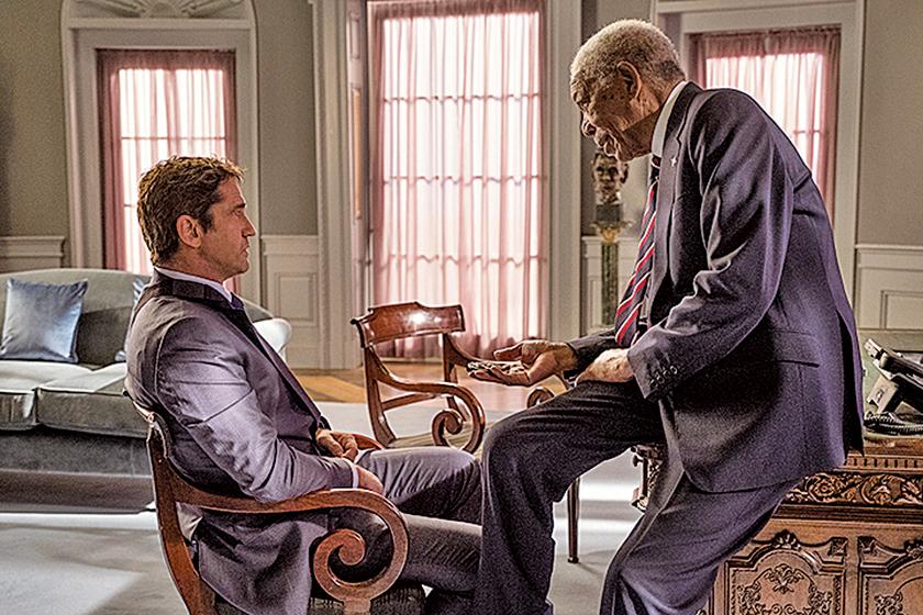 片尾麥克與總統的對手戲,是本片文戲裏的重要亮點。