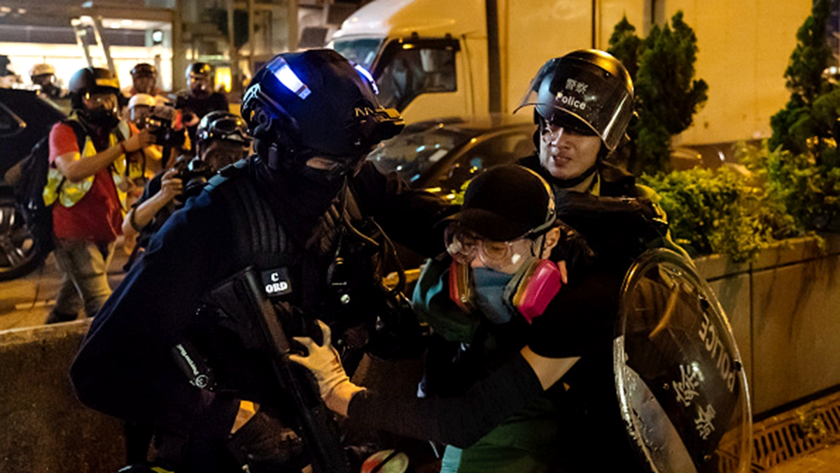 有消息指,特首林鄭月娥在不久前的閉門會議上,要求多抓人,直到抓到沒有人出來示威為止。 (Billy H.C. Kwok/Getty Images)