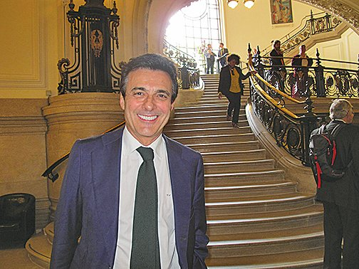 著名人權律師、西班牙訴江第一人卡洛斯‧伊格萊西亞斯(Carlos Iglesias)(麥蕾攝)