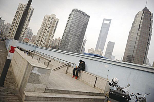 圖為上海一景。 (PETER PARKS/AFP/Getty Images)