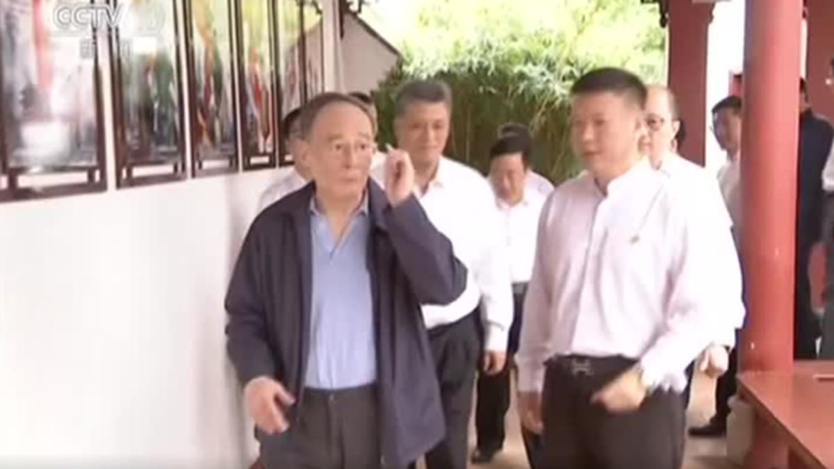 中共黨媒報道,中共國家副主席王岐山於8月29日至31日南下廣東調研。(影片截圖)