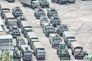 中共軍車入香港 換防還是居心叵測