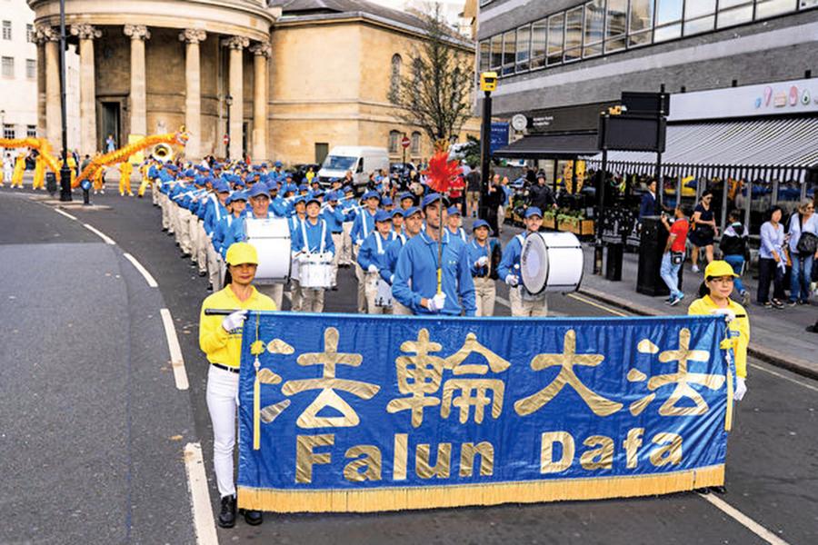 三十四國法輪功學員大遊行 籲停止迫害