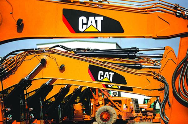 美國大型建築器材製造商Caterpillar在近日的電話會議上提及中國經濟放緩的影響,該公司預計公司今年的關稅相關成本將達到逾2億美元。(Justin Sullivan/Getty Images)