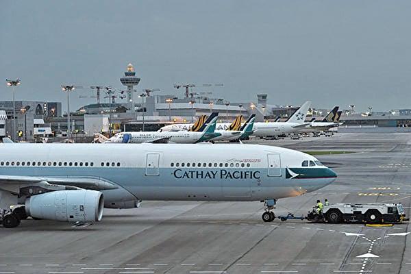 國泰航空受壓於中共,高層人士再次發生變動。( ROSLAN RAHMAN / AFP)
