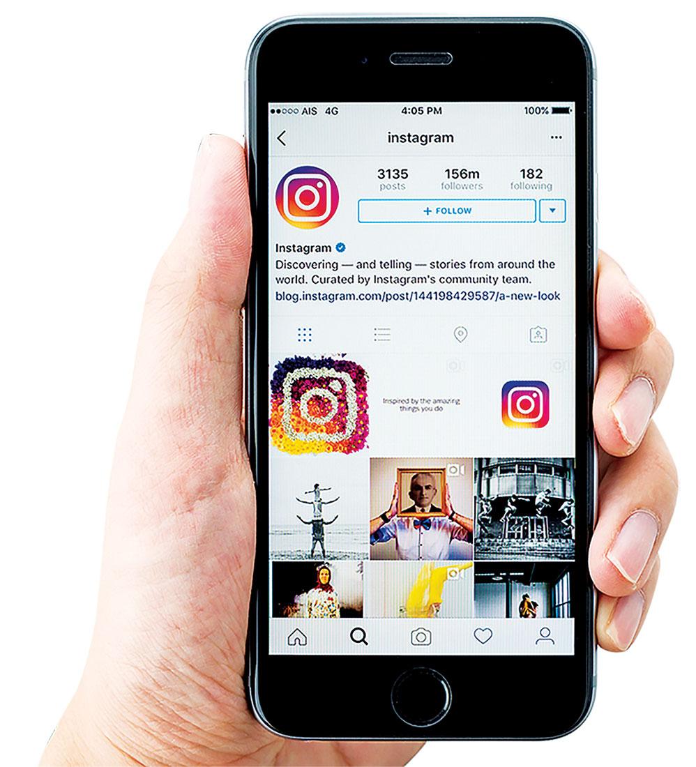 Facebook與Snapchat正面交鋒,正在開發一款促進用戶多與親密朋友分享信息的聊天應用軟件「Threads」,與Instagram搭配使用。圖為Facebook旗下的社交媒體Instagram。(Shutterstock)