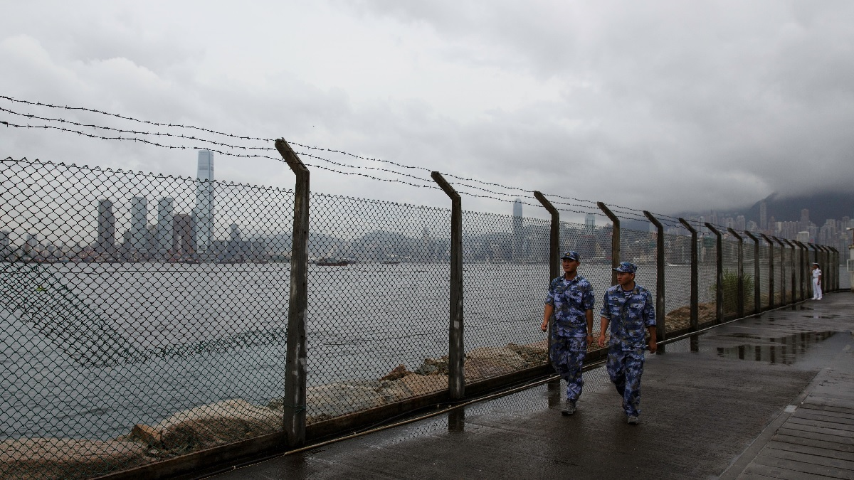 香港昂船洲海軍基地。(TENGKU BAHAR/AFP/Getty Images)