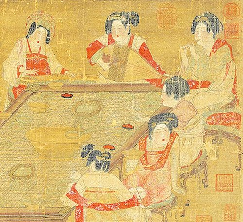 唐代仕女圖(故宮博物院)