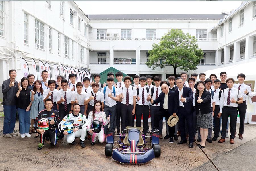 拔萃男書院150周年慶舉辦「社際皂飛車大賽」。(Foundation Ltd DBS)