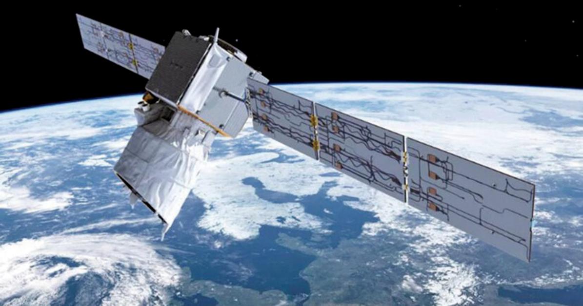 ESA的衛星「風神」示意圖。(ESA)