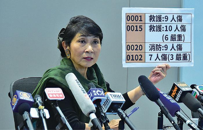 毛孟靜披露政府內部文件,再現8.31太子站事件疑點重重。(駱亞/大紀元)