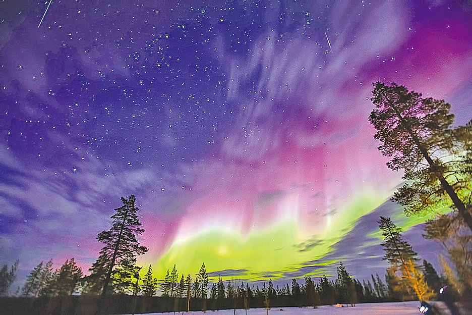 神秘而美麗的極光要在美加及北歐才看的見,圖為芬蘭的極光。(Dave Grubb/Flickr)