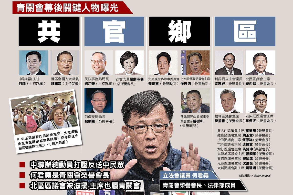 美國欲出手懲治香港有人權劣跡的官員。何君蕘等親共官員的苦日子可能要來了。(大紀元合成圖)