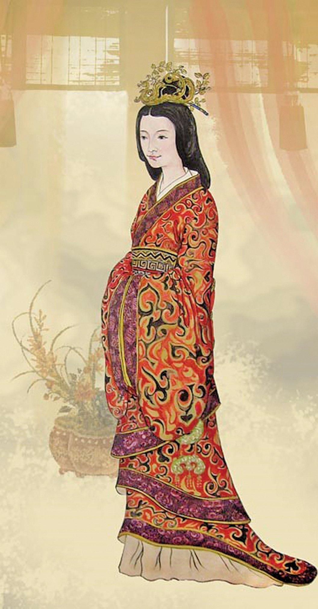 東漢光武帝皇后陰麗華像。(《品位生活》雜誌提供)