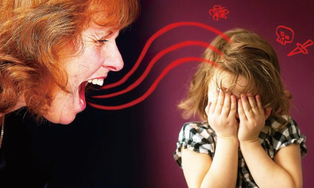 言語虐待(Verbal Abuse)或言語暴力會影響兒童的心理發育,也會導致抑鬱和焦慮等心理疾病。(Illustration – Shutterstock)
