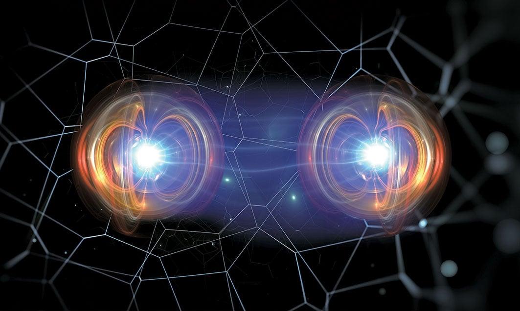 兩個物體處於量子疊加態的示意圖。(Shutter Stock)