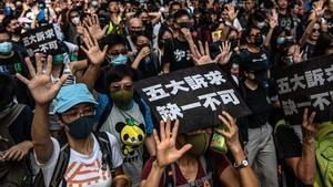 【9.15反送中】港人無懼再遊行 港警當街私刑打破人頭胡椒水噴眼