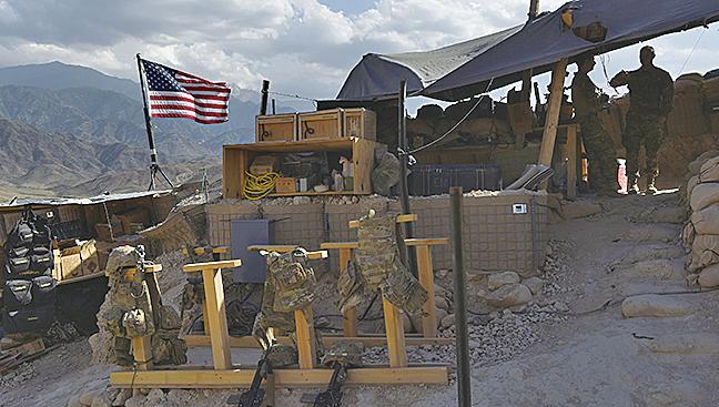 駐阿富汗美軍所守衛的一個邊境檢查站。(AFP)