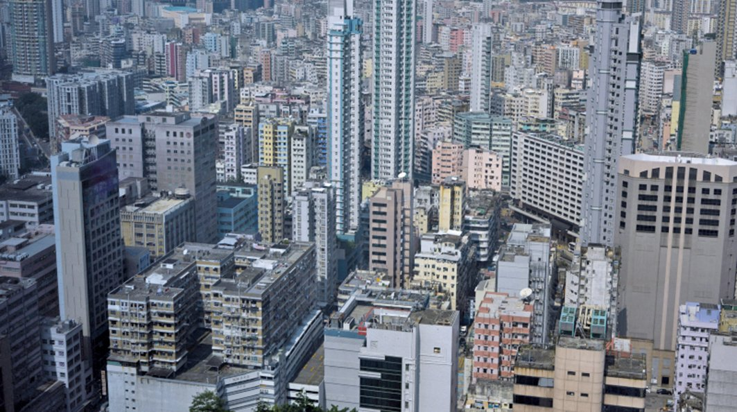 圖為香港房市。(AFP)