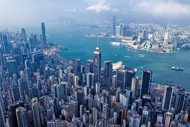 美國共和黨參議員魯比奧預期《香港人權與民主法案》可輕鬆過關。圖為2018年12月19日,香港的空拍照片。(AFP)