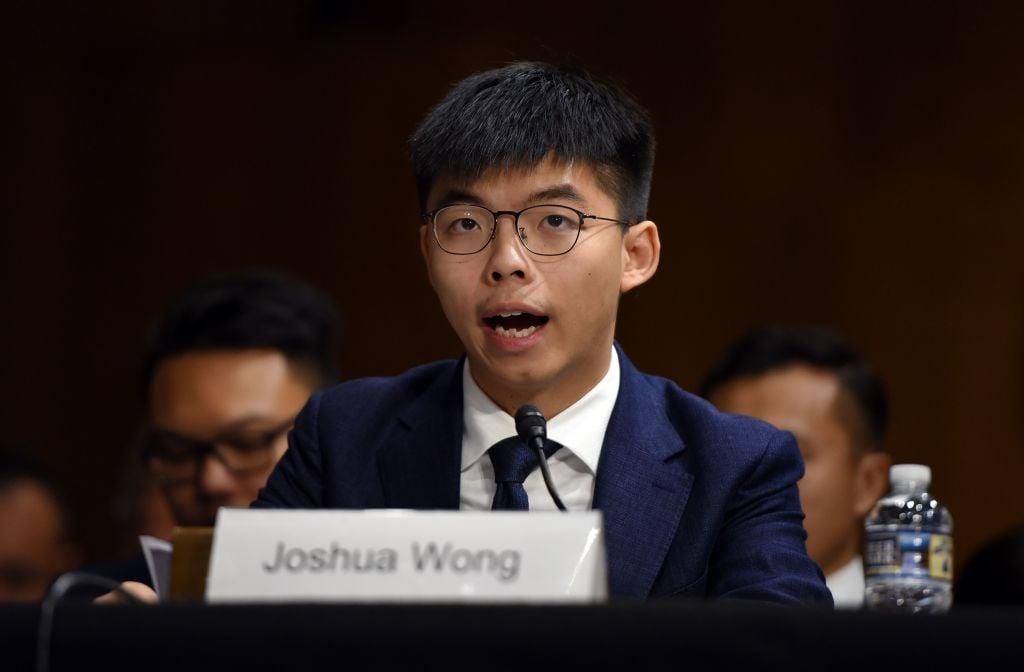 「香港眾志」秘書長、「雨傘運動」人物之一黃之鋒於2019年9月17日在華盛頓特區出席了美國國會及行政當局中國委員會舉行的聽證會,並就香港民眾運動現狀發言。(OLIVIER DOULIERY/AFP/Getty Images)
