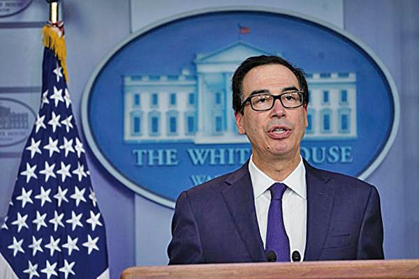 美國財政部長姆欽(Steven T. Mnuchin)。(Getty Images)