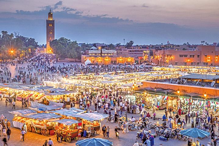 摩洛哥馬拉喀什市集是外星人槍戰藏匿處。