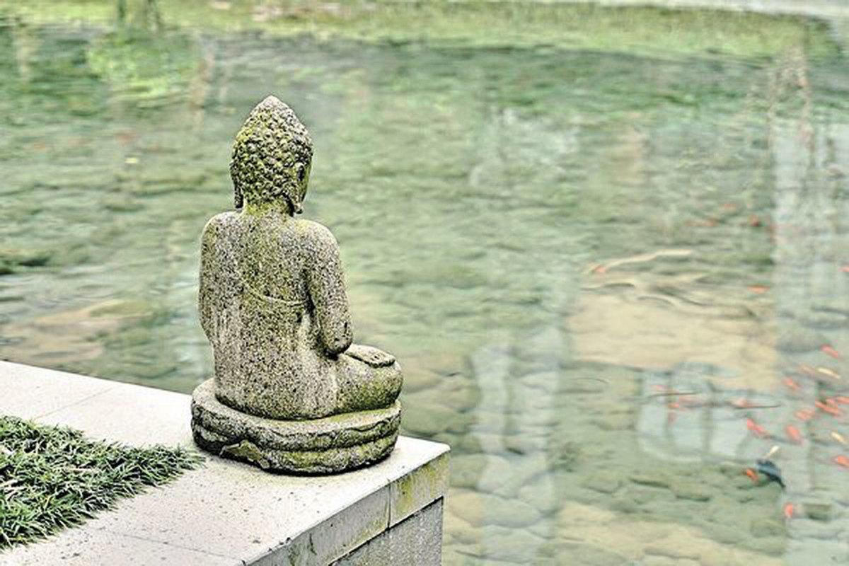 修行要以自我提升為至關重要,任何有為之事都如幻泡影,神佛只看人心。(公有領域)