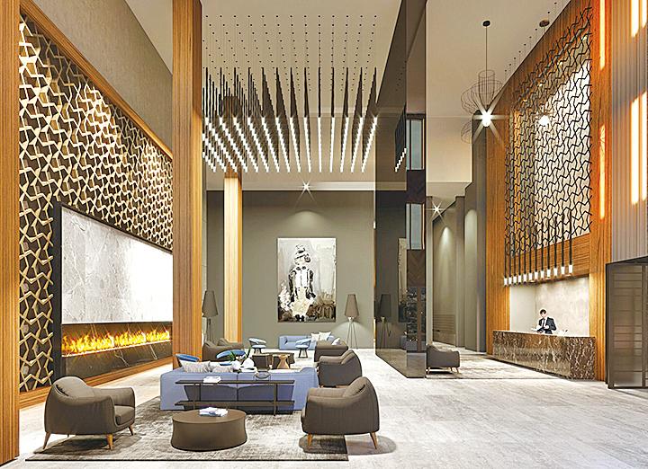 富麗堂皇的公寓大堂,樓高2層,寬敞明亮。24小時保安及禮賓服務,全年無休。