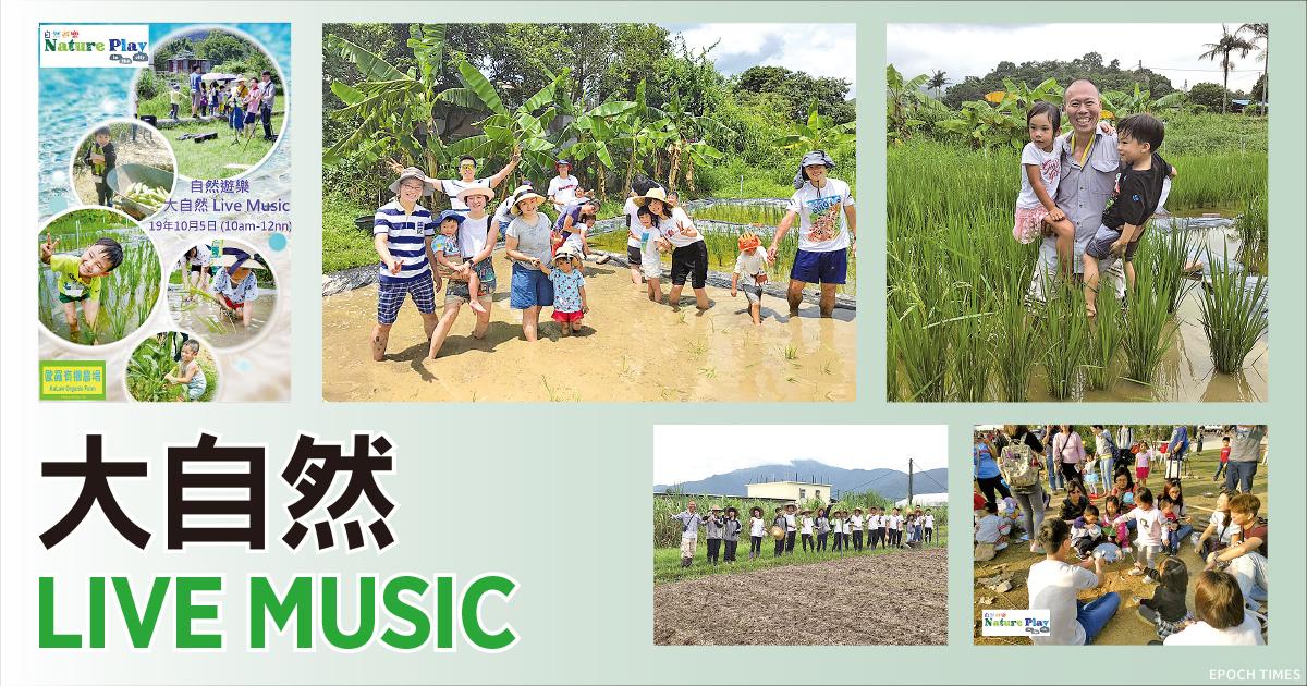 大自然Live Music活動。(設計圖片)