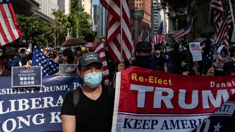 港人的堅韌不屈,已經感動了整個世界,目前,全球都在聲援香港。(Anthony Kwan/Getty Images)
