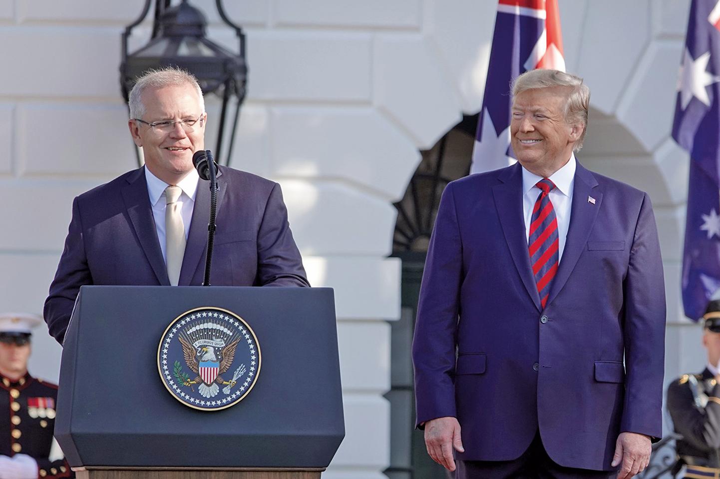 9月20日,澳洲總理莫里森訪美,他強調美國要與中國達成公平協議。(亦平/大紀元)