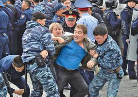 哈國爆發反中共滲透示威