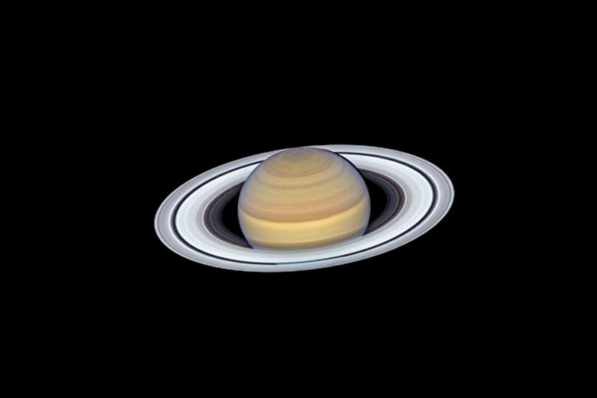 NASA日前公佈了在2019年6月20日拍攝的土星圖片。(NASA)