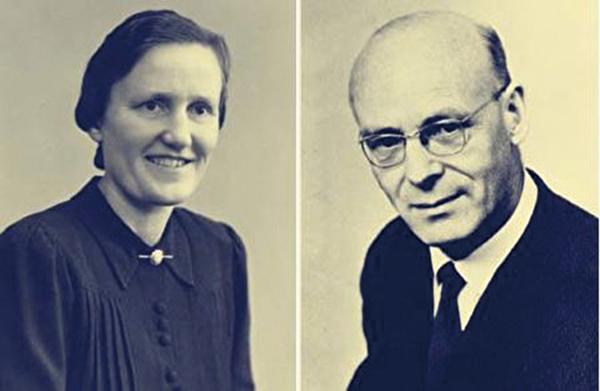 丹麥牧師葛立夫和夫人(1907—1995),二人於1934年來華,1937年結婚。葛曾任安東基督教青年會秘書及丹麥學校老師,夫人曾在安東劈柴溝神學院任教。(民間史學家王維剛先生提供)