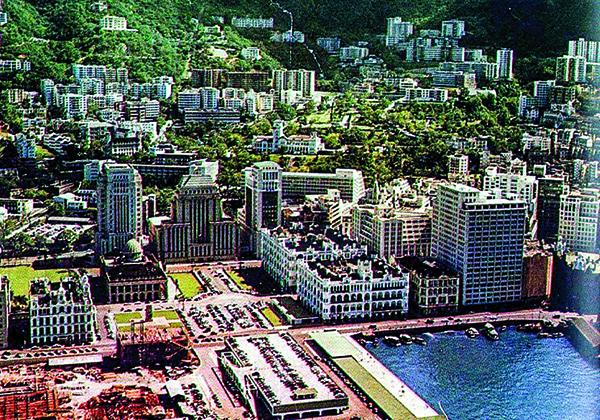 1955年的香港中環。(公有領域)