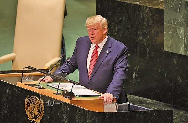 美國總統特朗普本周在紐約出席聯合國大會第74屆會議,他在周二的演講中說,社會主義和共產主義只做一件事:爭權。(AFP)
