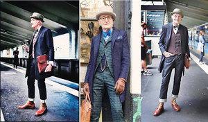 爺爺街頭時尚照片爆紅 時尚優雅是他的生活日常