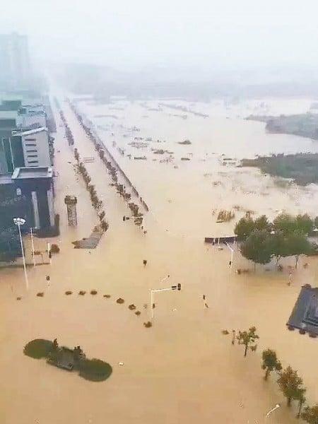 武漢市,一片汪洋。(網絡圖片)